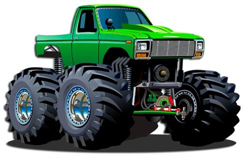 Kinderzimmer Wandtattoo: Monster Truck 12