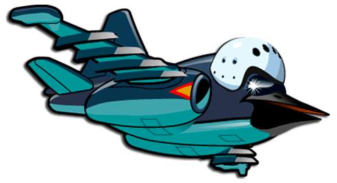 Kinderzimmer Wandtattoo: Flugzeug köpfigen Vogel