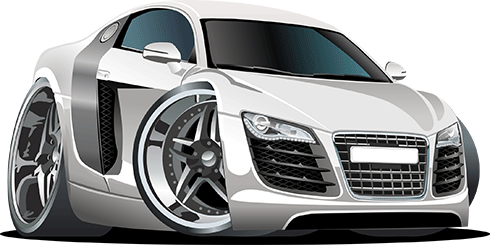 Kinderzimmer Wandtattoo: Weiß Sportwagen