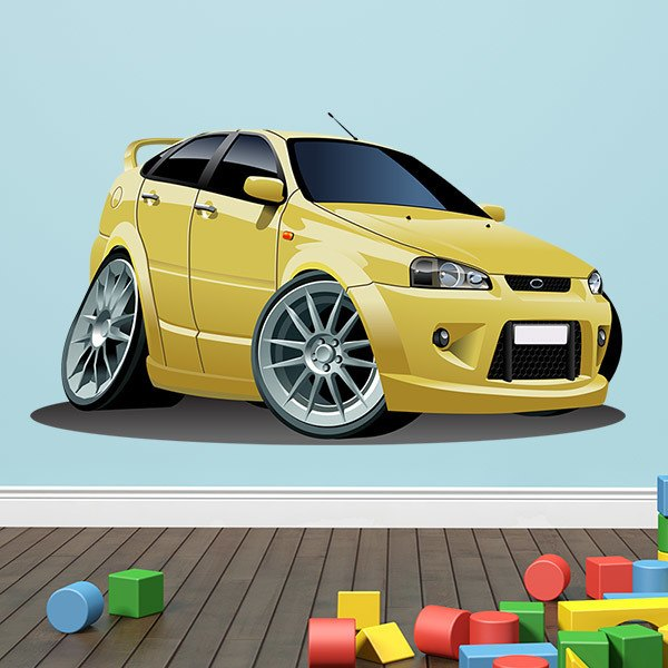 Kinderzimmer wandtattoo gelbes auto - Auto kinderzimmer ...