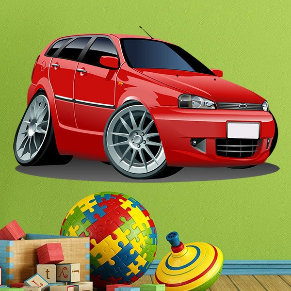 Kinderzimmer wandtattoo rotes auto - Kinderzimmer auto ...