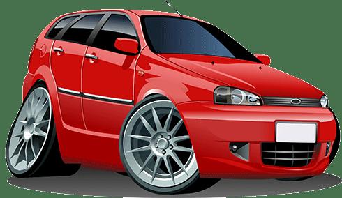 Kinderzimmer Wandtattoo: Rotes Auto