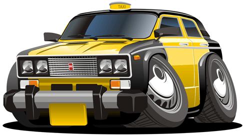 Kinderzimmer Wandtattoo: Schwarzen und gelben Taxi