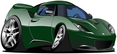 Kinderzimmer Wandtattoo: Grün-Sportwagen
