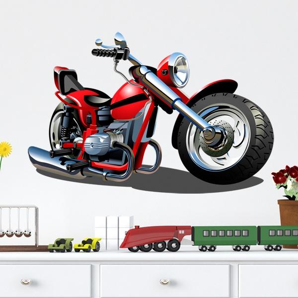 Kinderzimmer wandtattoo motorrad harley 1 - Motorrad wandtattoo ...