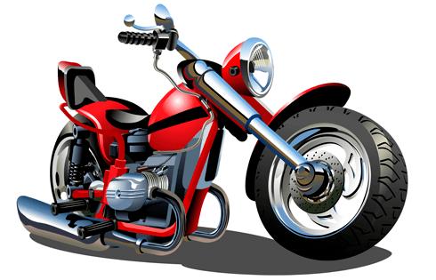 Kinderzimmer Wandtattoo: Motorrad Harley 1