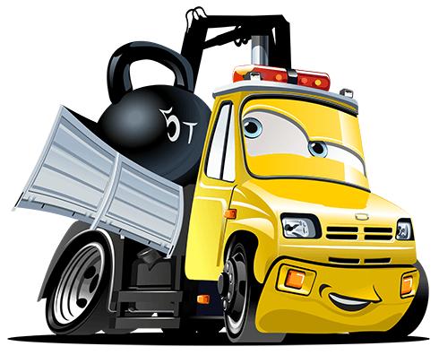 Kinderzimmer Wandtattoo:  Truck Crane Ball 2
