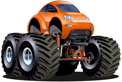 Kinderzimmer Wandtattoo: Monster Truck 24