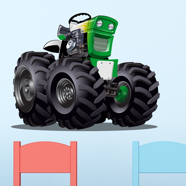 Kinderzimmer Wandtattoo: Monster Truck Traktor