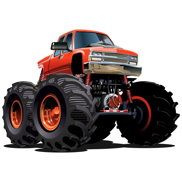 wandtattoo kinder monster truck orange. Black Bedroom Furniture Sets. Home Design Ideas