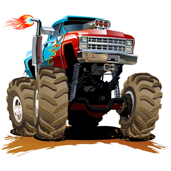 Kinderzimmer Wandtattoo: Monster Truck 28