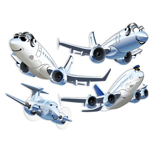 Kinderzimmer Wandtattoo: Kit Airliners