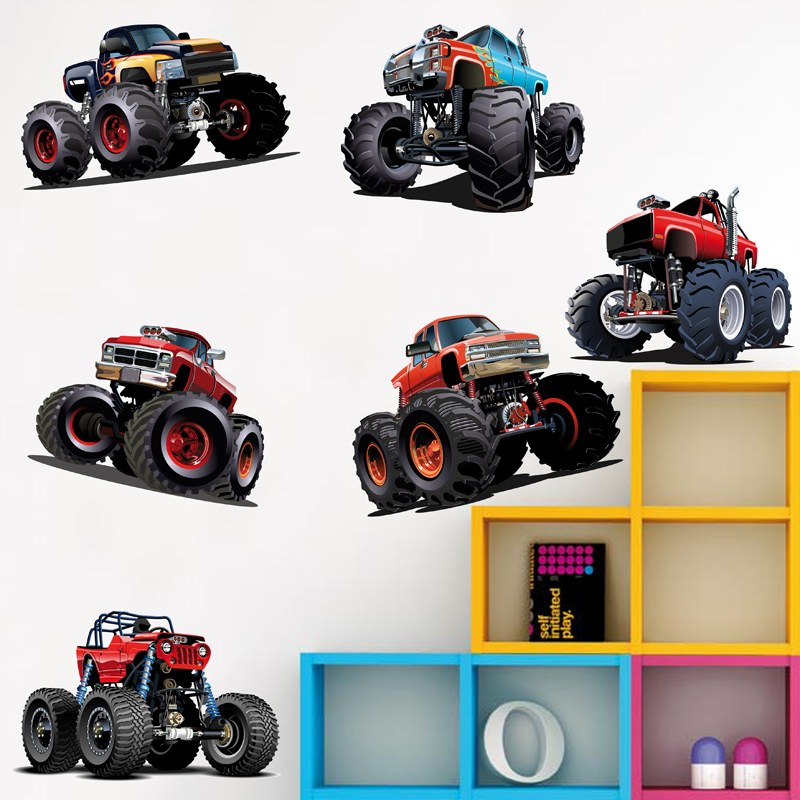 Kinderzimmer Wandtattoo: Kit Monster Truck