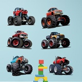 Kinderzimmer Wandtattoo: Kit Monster Truck 3