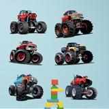 Kinderzimmer Wandtattoo: Monster Truck Kit 3