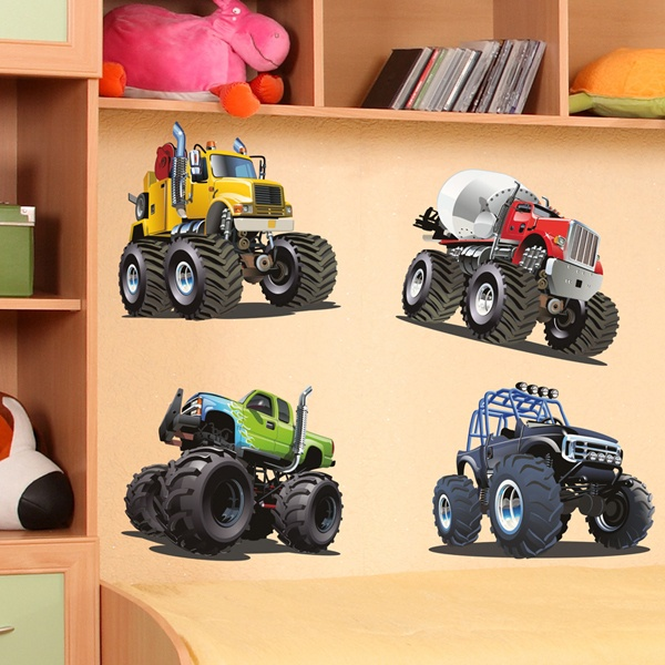 Kinderzimmer Wandtattoo: Monster Truck Kit 2