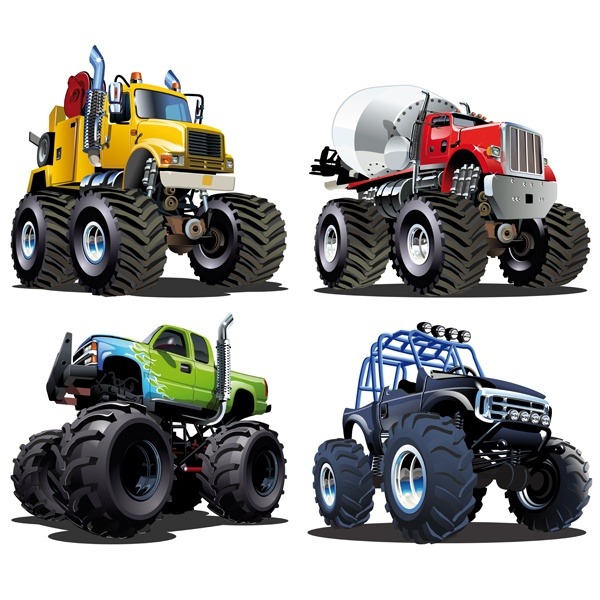 Kinderzimmer Wandtattoo: Kit Monster Truck Big