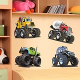 Kinderzimmer Wandtattoo: Kit Monster Truck Big 3