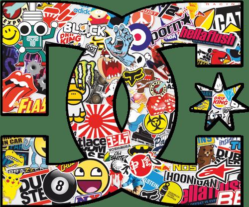 Aufkleber: DC Sticker Bomb 1