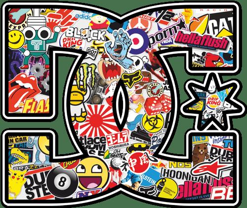 Aufkleber: DC Sticker Bomb 2