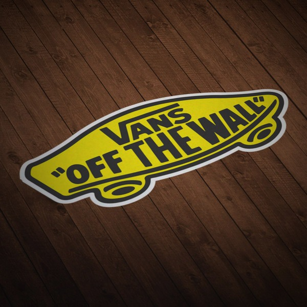 Aufkleber: Vans off the wall gelb