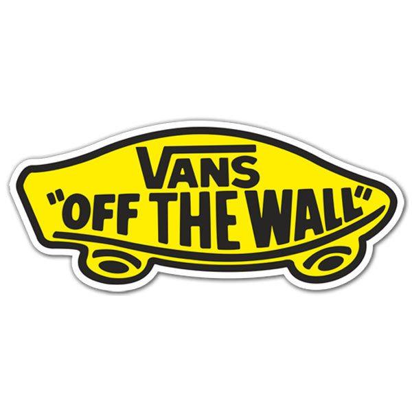 Aufkleber Vans off the wall gelb |