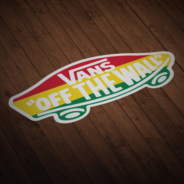 Aufkleber: Vans off the wall Rastafari