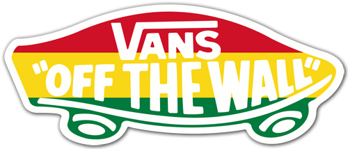 Aufkleber: Vans off the wall 4