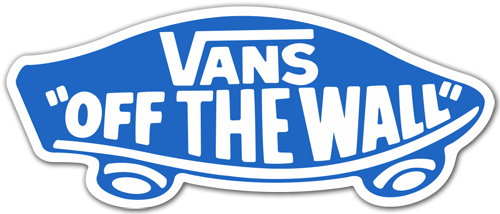Aufkleber: Vans off the wall 6