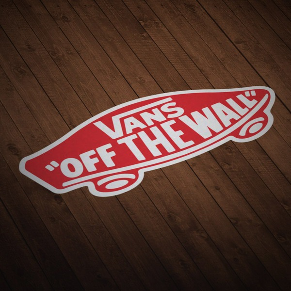 Aufkleber: Vans off the wall rot