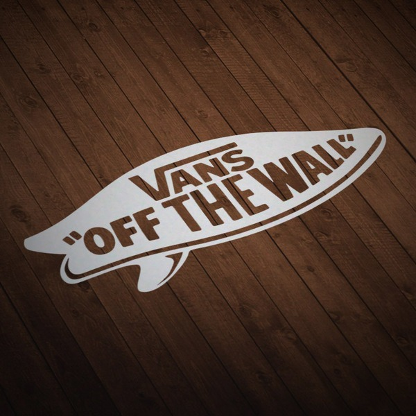 Aufkleber: Vans off the wall surf