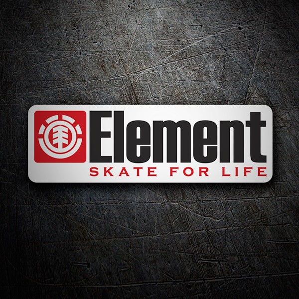 Aufkleber: Element skate for life