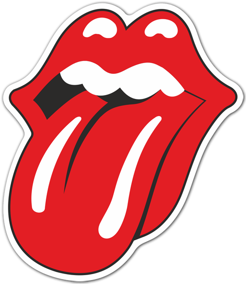 Aufkleber: The Rolling Stones color