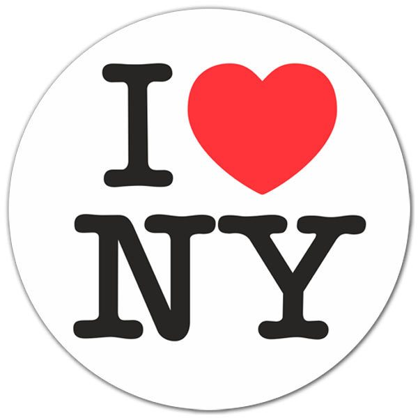 Aufkleber: I love NY (New York)
