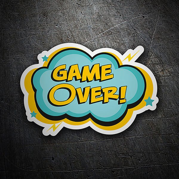 Aufkleber: Game Over