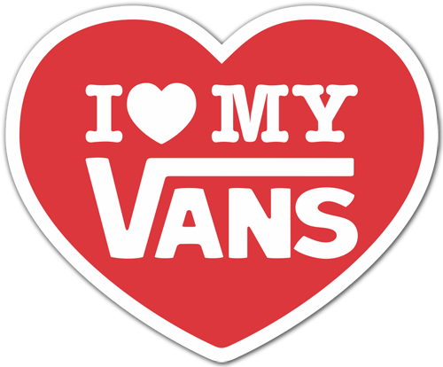 Aufkleber: I love my Vans 1