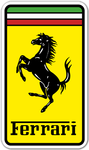 Aufkleber: Ferrari 1