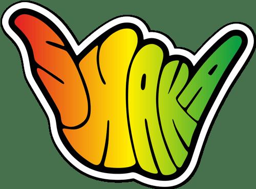 Aufkleber: Shaka Rasta