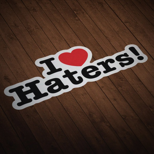 Aufkleber: I love Haters!