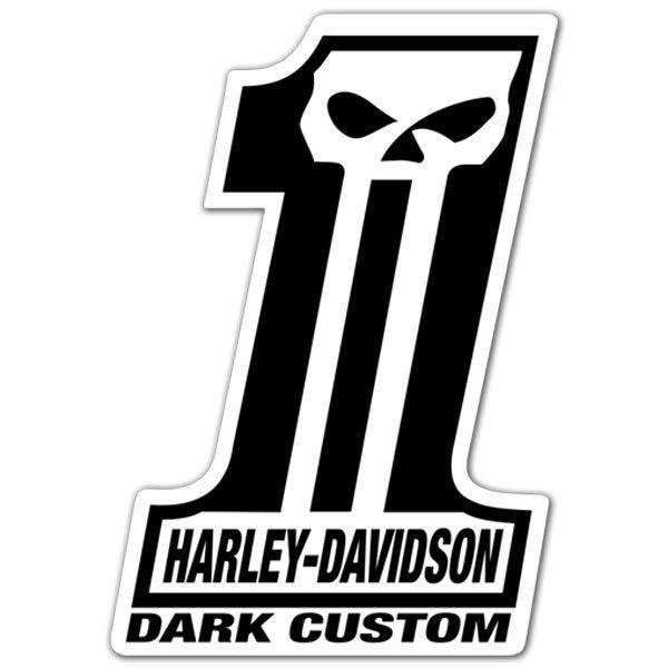 aufkleber harley davidson 1 dark custom. Black Bedroom Furniture Sets. Home Design Ideas
