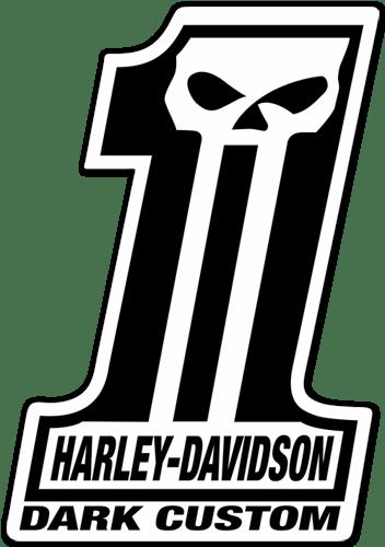 Aufkleber Harley Davidson 1 Dark Custom Webwandtattoo Com