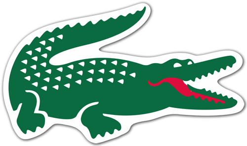 Aufkleber: Lacoste-Krokodil