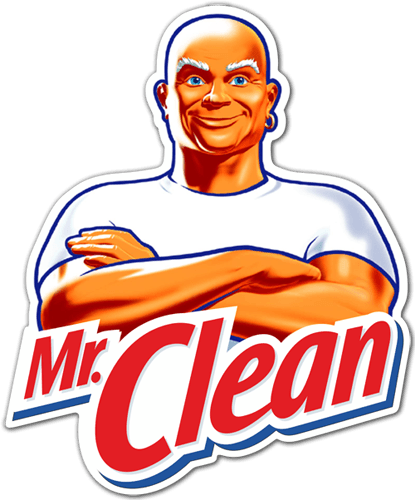 Aufkleber: Mr. Clean 0