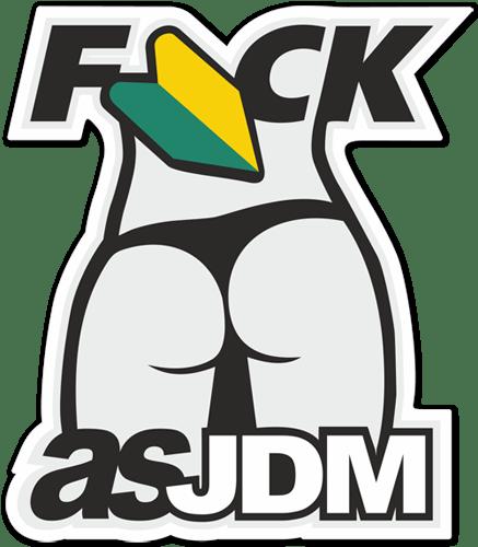 Aufkleber: Fuck as JDM