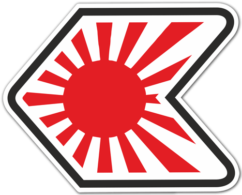 Aufkleber: Japan JDM Rising Sun Badge