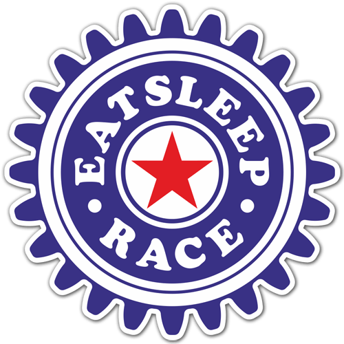 Aufkleber: Eat Sleep and Race