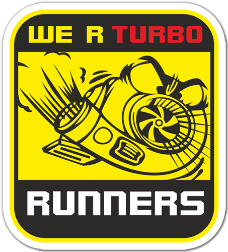 Aufkleber: We are Turbo Runners