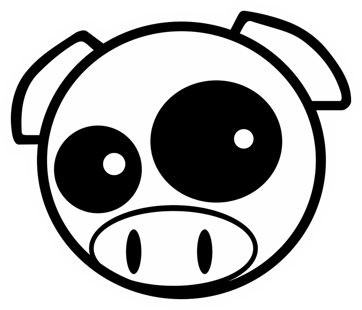 Aufkleber: Subaru Pig Manga Mascot