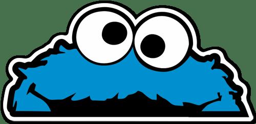 Aufkleber: Cookie Monster
