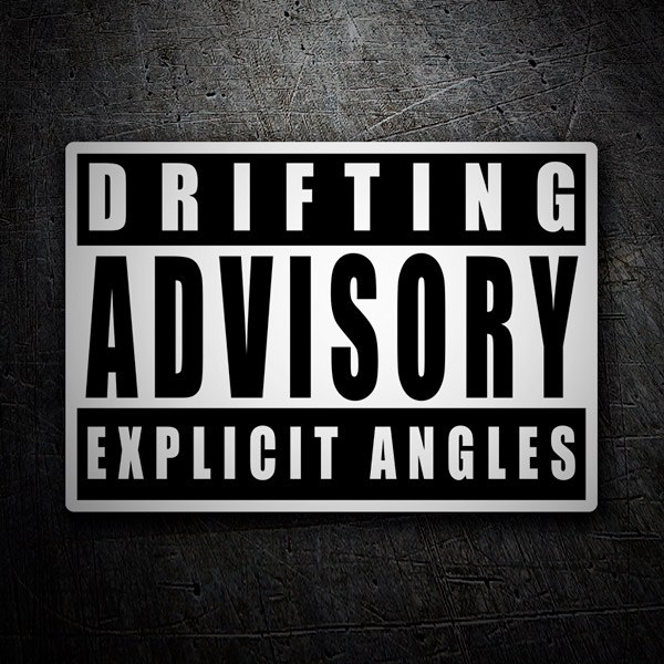 Aufkleber: Drifting Advisory Explicit Angles